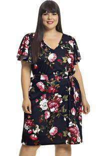 Vestido Plus Size Floral