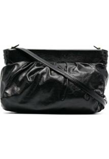 Isabel Marant Luz Leather Shoulder Bag - Preto