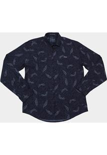 Camisa Colcci Full Print Folhagem Masculina - Masculino