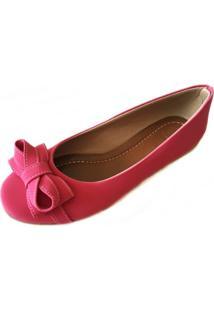 Sapatilha Likka Calçados Bico Redondo Pink