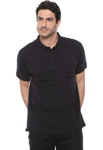 Camisa Polo Richards Reta Lisa Preta
