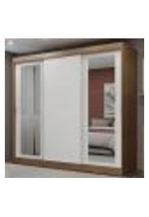 Guarda-Roupa Casal Madesa Kansas 3 Portas De Correr Com Espelhos 3 Gavetas