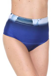 Calcinha Agua De Coco Por Liana Thomaz Hot Pant Chromata Azul-Marinho