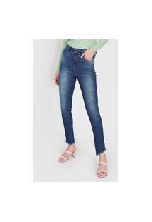 Calça Jeans U Uberjeans Skinny Estonada Azul