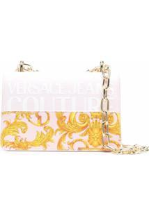 Versace Jeans Couture Barocco-Print Logo Shoulder Bag - Rosa