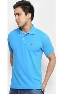 8e4b75f72ac59 ... Camisa Polo Lacoste Piquet Original Fit Masculina - Masculino-Azul  Piscina+Branco