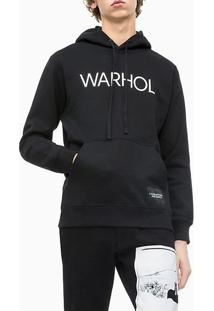Casaco Ckj Masc Ml Com Capuz Andy Warhol - Preto - P
