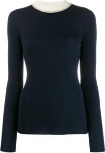 Missoni Suéter Com Contraste - Azul
