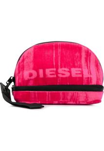 Diesel Necessaire Estampada Com Logo - Rosa