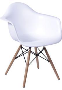 Poltrona Eames Dar- Branca & Bege- 82X62X44Cm- Oor Design