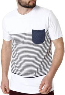 Camiseta Manga Curta Masculina Rovitex Branco