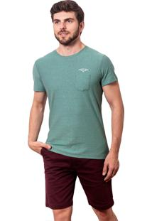 Camiseta Salt35G Linho Bolso Verde