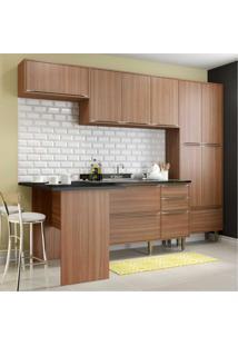 Cozinha Completa Multimóveis Com 5 Peças Calábria 5454 Nogueira