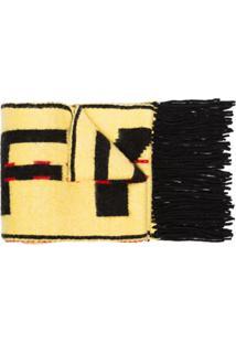 Off-White Cachecol Longo - Amarelo