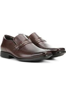 Sapato Social Couro Ferricelli Iberian Masculino - Masculino-Marrom Escuro
