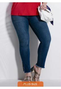 Calça Azul Jeans Skinny Cintura Alta