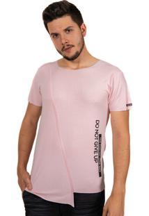 Camiseta Baiki Badhai Fenda Transversal Rosa
