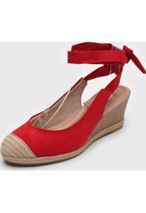 Sandã¡Lia Mississipi Cordas Vermelha - Vermelho - Feminino - Tãªxtil - Dafiti