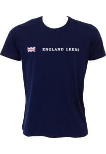 Camisa England Leeds Azul Marinho