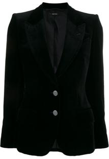 Tom Ford Blazer De Veludo Com Dois Botões - Preto