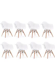 Cadeira Impã©Rio Brazil Eames Wood Policarbonato Transparente - Incolor - Dafiti