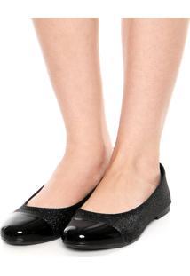 Sapatilha Dafiti Shoes Lurex Preta