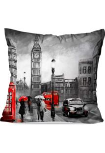 Capa De Almofada Avulsa Decorativa Londres 35X35Cm