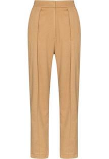 Matériel Calça Pantalona Com Pregas - Neutro