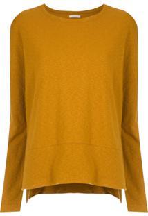 Osklen Blusa Com Fendas Laterais - Amarelo