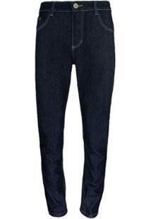 Calça Knt Jeans Escura - Masculino-Preto