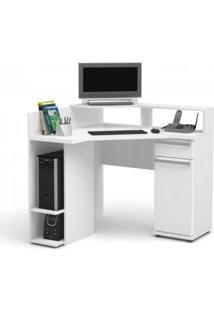 Escrivaninha De Canto Kappesberg S975 1 Porta E 1 Gaveta Branco
