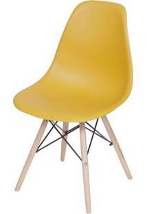 Cadeira Eames Polipropileno Acafrao Base Madeira - 49331 Sun House