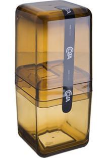 Porta Escova Com Tampa Banho Cube Mel 20877/0456 Coza