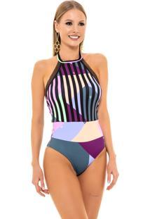 Maiã´ Body Tanga Multicolorido - Multicolorido - Feminino - Dafiti
