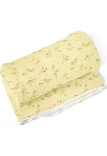 Cobertor Papi Estampado Coelho Balão - Amarelo
