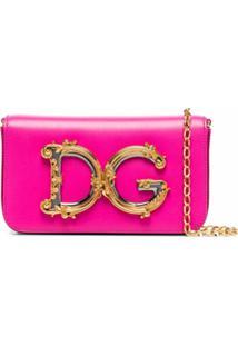 Dolce & Gabbana Bolsa Transversal Dg Girls Pequena - Rosa