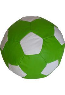 Puff Big Ball Futebol Pop Verde E Branco