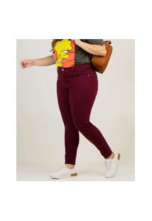 Calça Plus Size Feminina Sarja Skinny Marisa