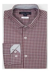 Camisa Manga Longa Social Slim Fit Xadrez