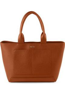 Bolsa Shopping Bag Bia Tan - Tan/Un