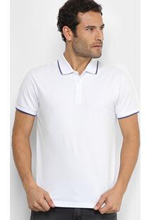 Camisa Polo Colcci Piquet Friso Contraste Masculina - Masculino