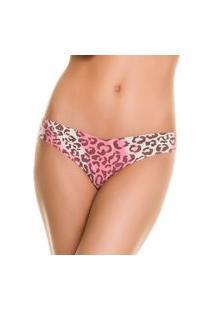 Calcinha Fio Dental Sem Costura Make Animal Print Rosa - 427.021 Marcyn Lingerie Fio Dental Rosa