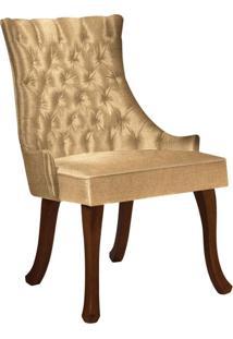 Cadeira De Jantar Leonardo Da Vinci Ii Capitonê Linho Mostarda