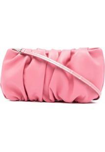 Staud Bean Ruched Shoulder Bag - Rosa
