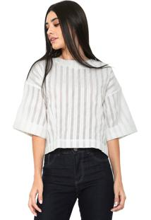 Blusa Finery London Canvey Striped Top Branca - Tricae
