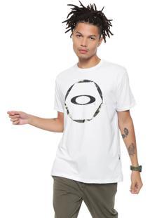 Camiseta Oakley Mod Hex Camo Branca