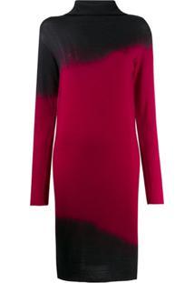 Pierantoniogaspari Tie-Dye Turtleneck Dress - Preto