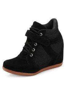 Tênis Sneaker Ana Lucia Al19-2000N Preto