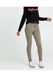 Calça Jeans Marisa Push Up Skinny Feminina - Feminino-Verde