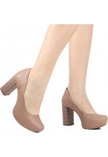 Sapato Dakota Scarpin Salto Grosso